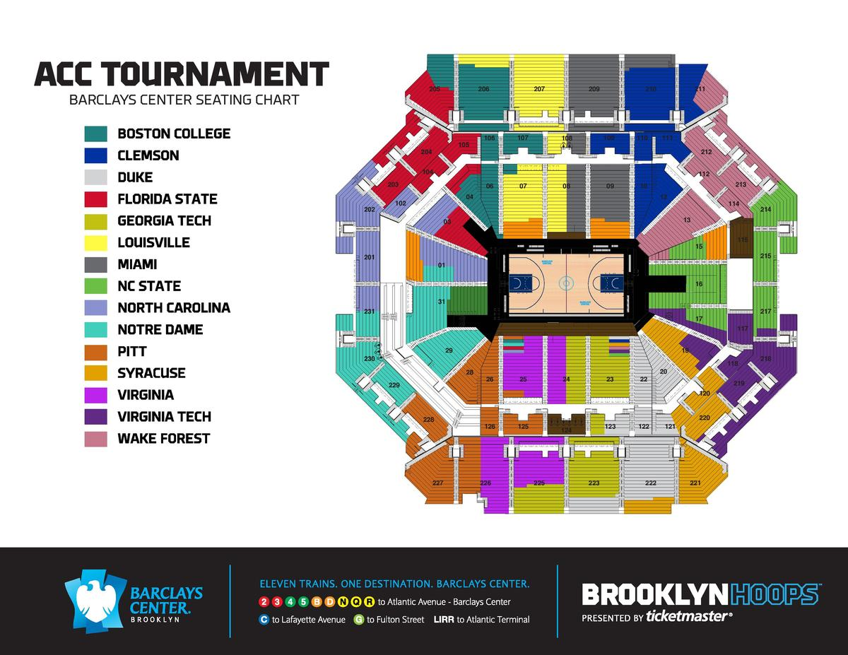 Acct Seating Chart By School Virginia Mens Basketball Board