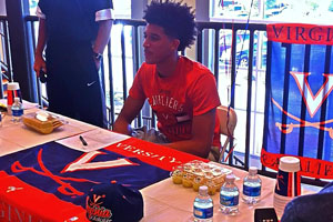 Wilkins signed a letter of intent with UVa on November 13