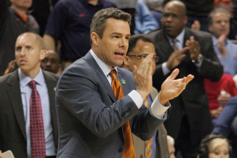 Virginia basketball coach Tony Bennett and staff are out recruiting.