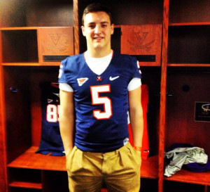 Johns, shown here at Virginia's Junior Day on March 1, is expected at UVa's camp on Sunday (photo courtesy of Johns)
