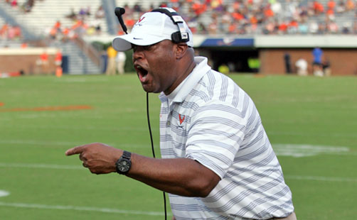 Mike London Takes Turn In ACC Kickoff TV Booth