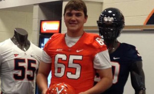 Knutson, pictured here on his UVa visit