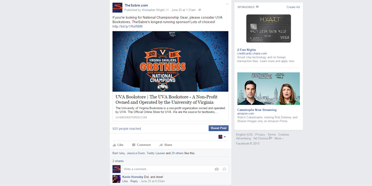 Sponsor Facebook Sample