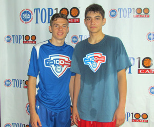 UVa class of 2016 recruits Guy (left) and Jerome at the 2015 NBPA Top 100 Camp