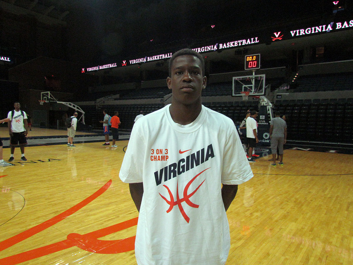 Oliver, pictured here following UVa's Elite Camp in August of 2015