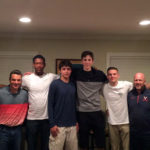 Hunter, third from the left, tweeted this photo the night he committed to UVa.  (Photo courtesy of Hunter's twitter account).