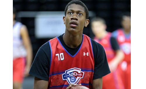 Hunter at the 2015 NBPA Top 100 Camp (Photo courtesy of Kelly Kline of Getty Images)