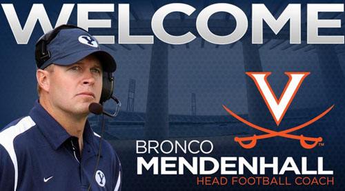 Virginia Hires Bronco Mendenhall As Football Coach