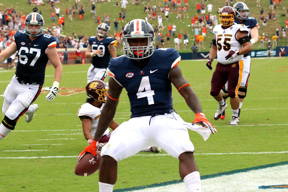 Mizzell scored twice in UVA's first win of the 2016 season.