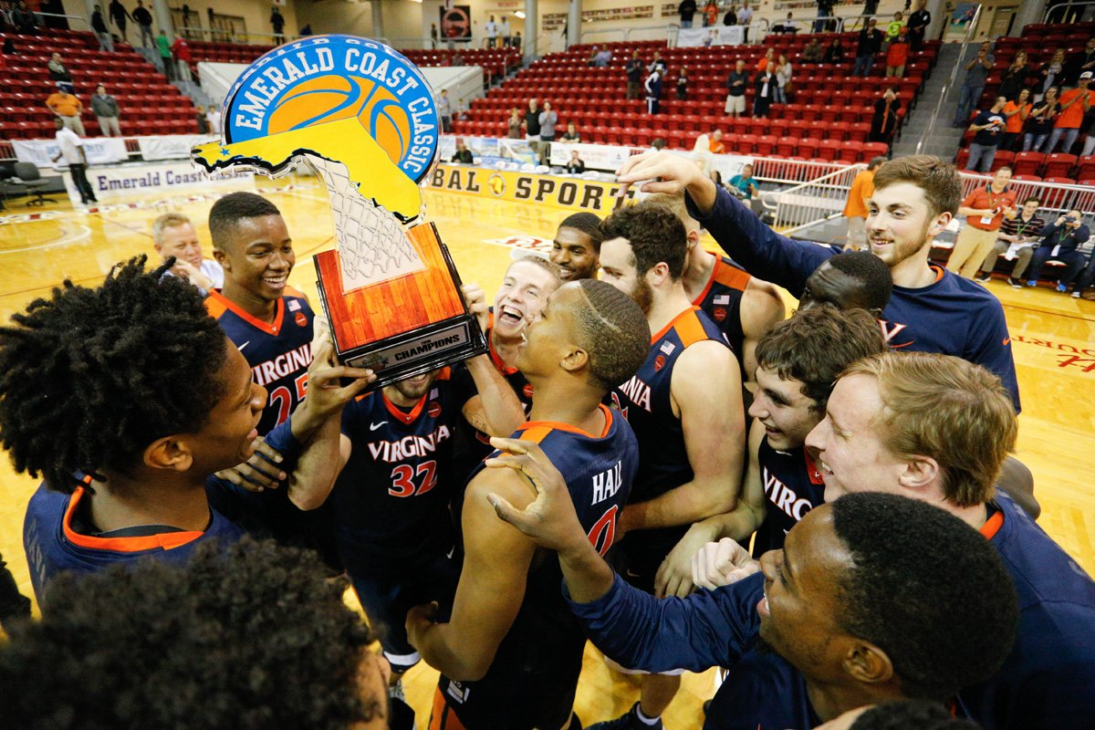 The Virginia basketball team won its fourth straight November tournament by winning the Emerald Coast Classic.