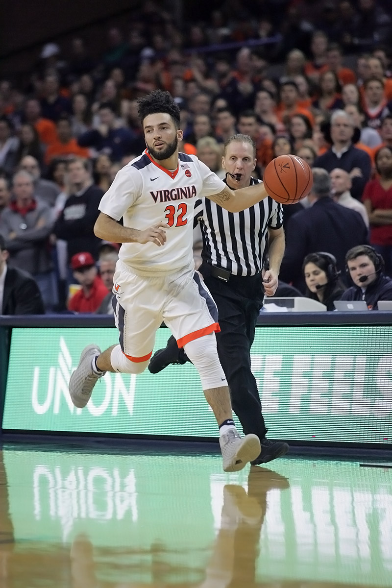 London Perrantes played in 108 wins at UVA.