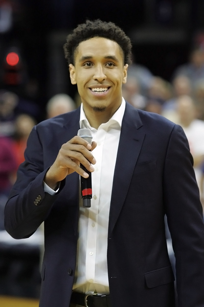 The Virginia basketball program retired Malcolm Brogdon's jersey number this winter.