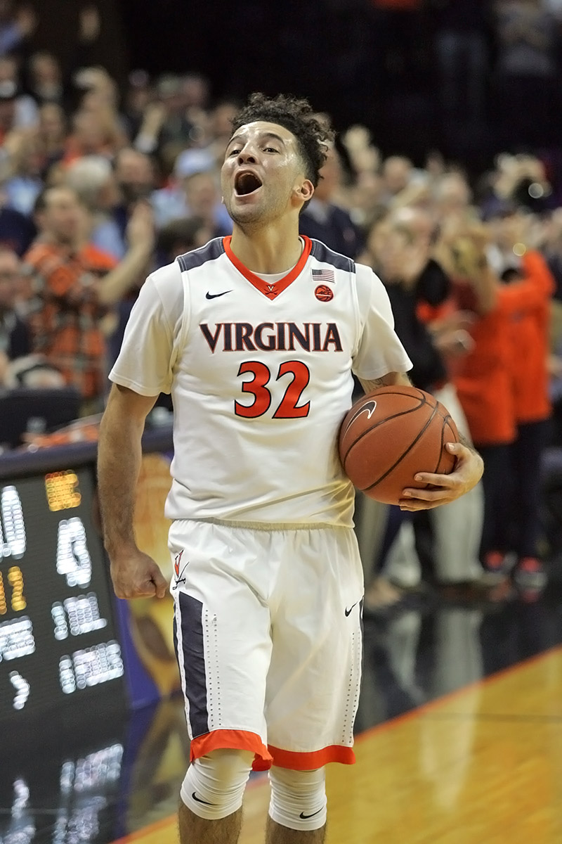 London Perrantes has started more games than anyone in a Virginia uniform.