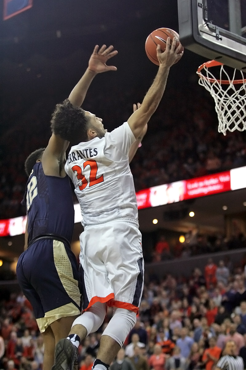 The Virginia basketball team finished the regular season with a 21-9 record.