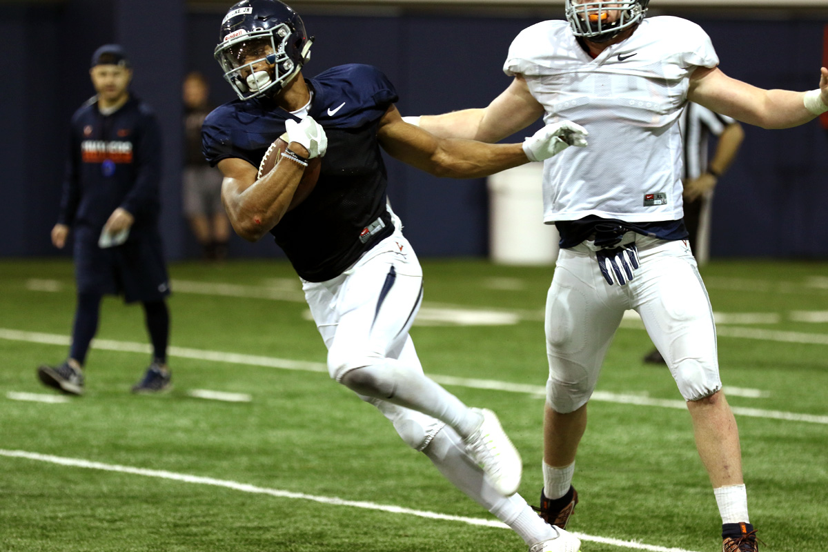 Andre Levrone has made two touchdown catches as a Virginia football player.
