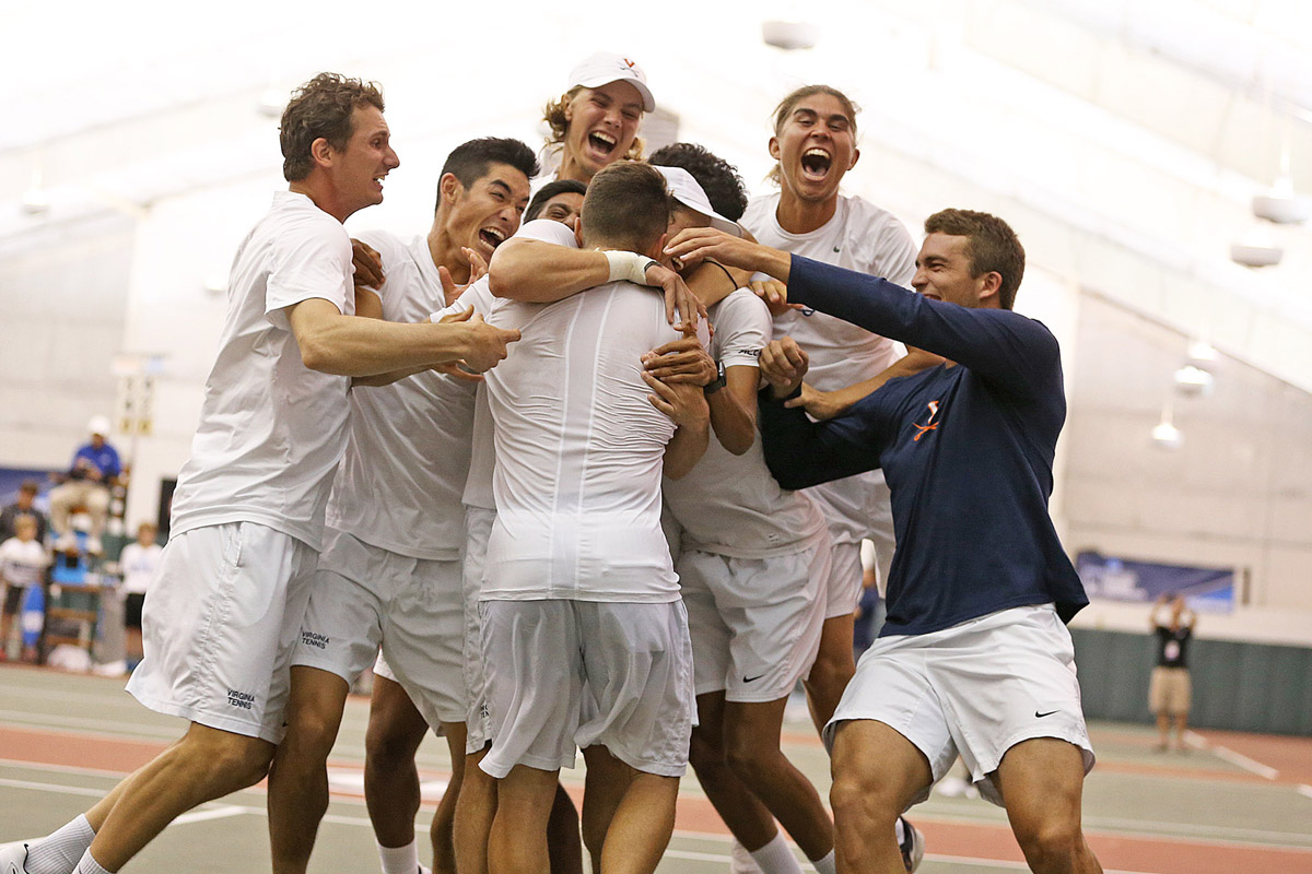 The Virginia men's tennis team has won 4 of the last 5 national titles.