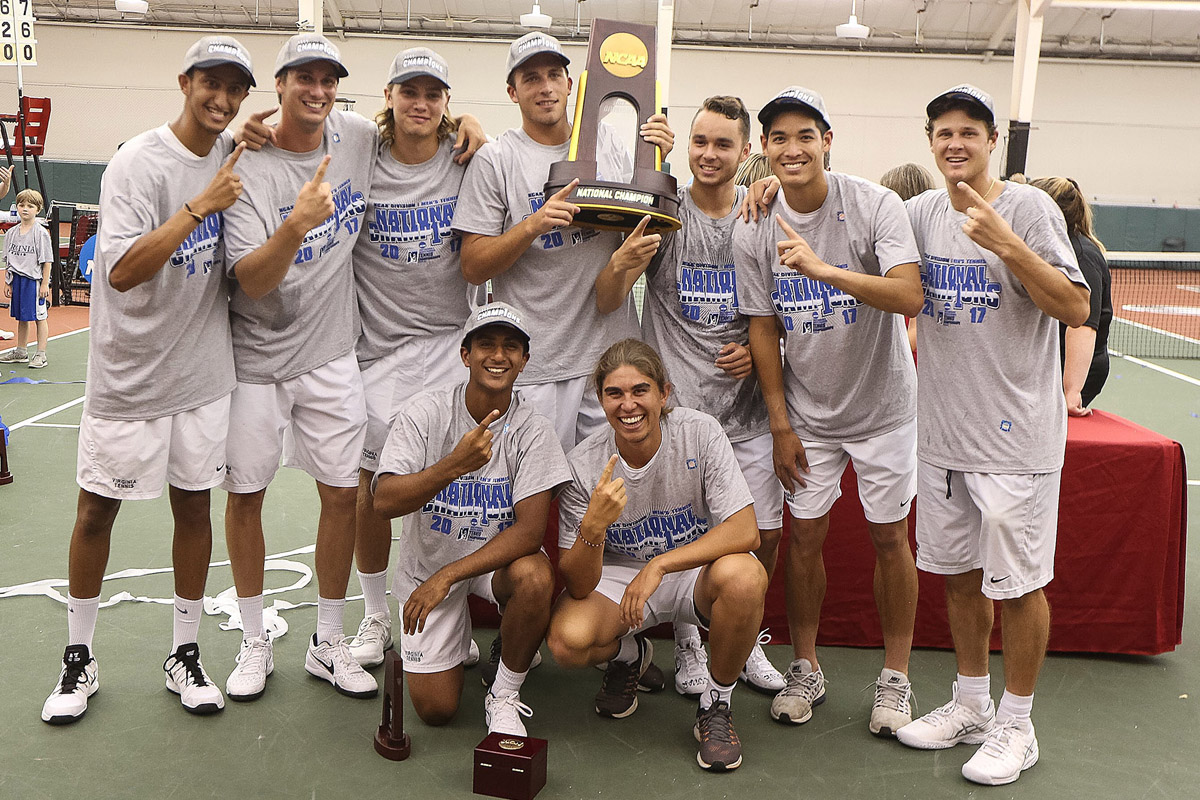 The Virginia men's tennis team has won 3 straight National Championships.