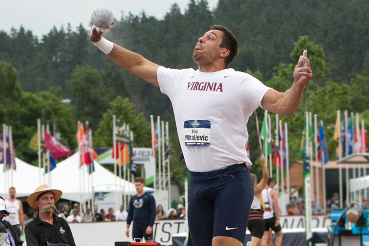 Filip Mihaljevic set a new school and ACC record with his winning throw.