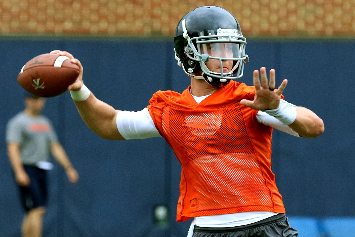 The Virginia football team opened practice on Friday.