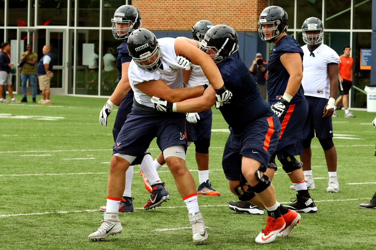 Eli Hanback has moved to nose tackle for the Virginia football team.