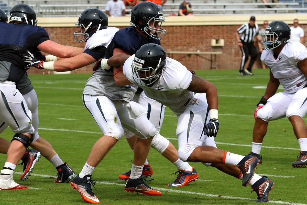 The Virginia football team has gotten good play from Chris Peace.