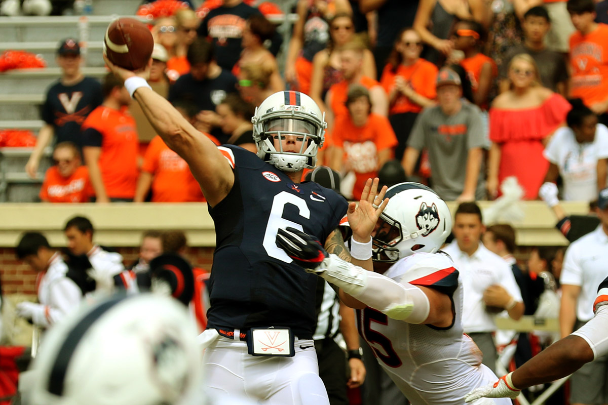 The Virginia football team owns a 3-1 record at the start of ACC play.