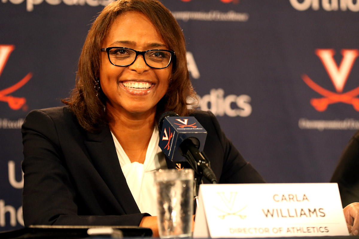Carla Williams was introduced at Virginia on Monday.