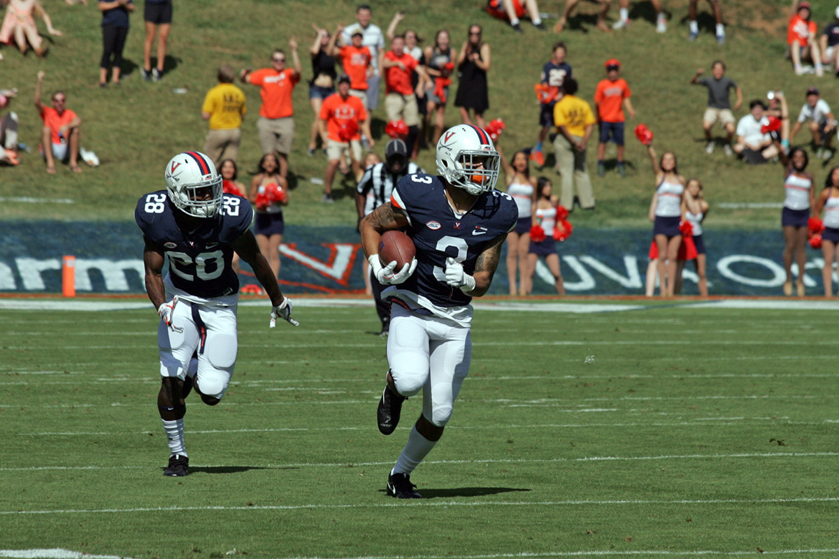 Virginia faces Navy in the Military Bowl.