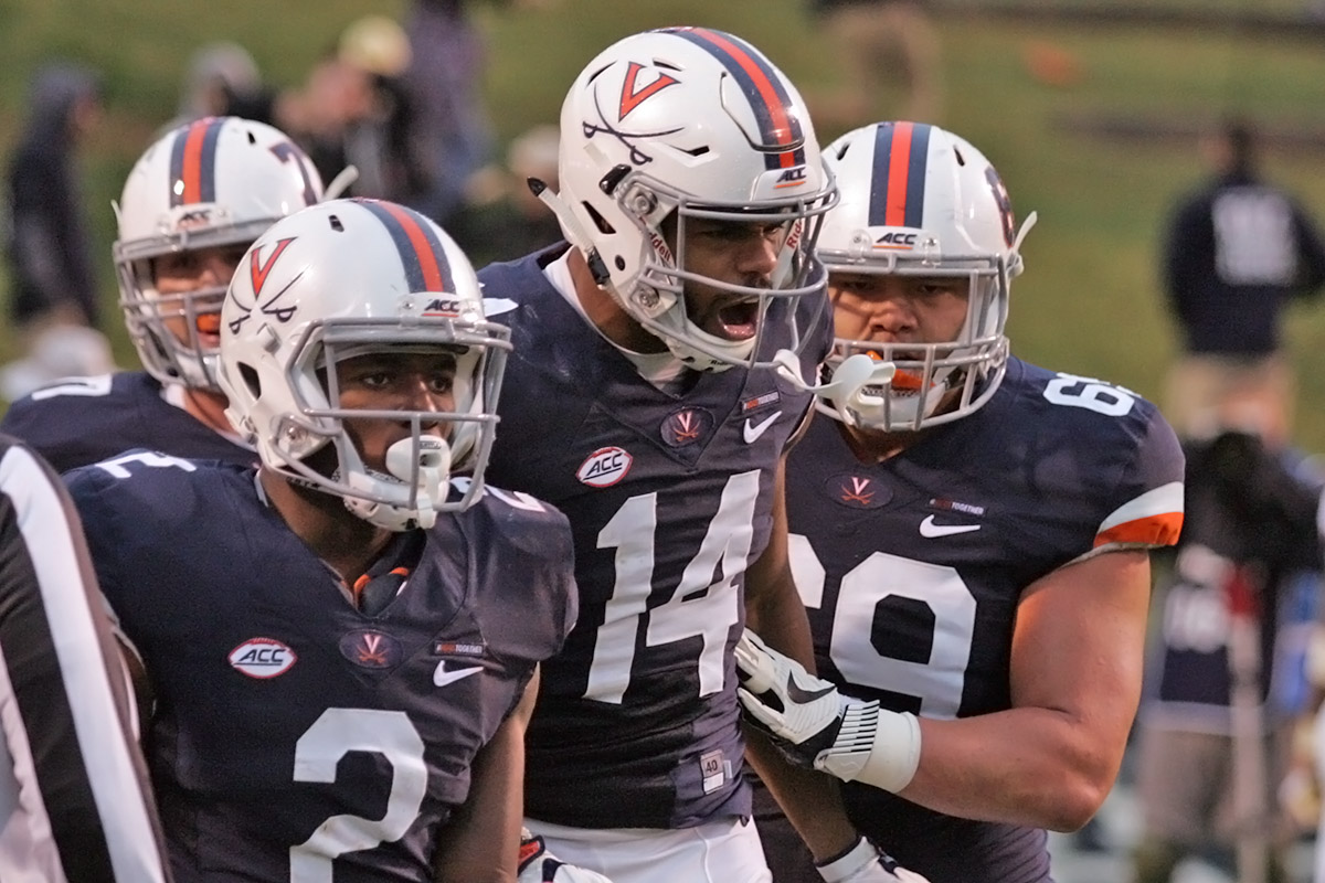 The Virginia football team faces Navy in the Military Bowl.