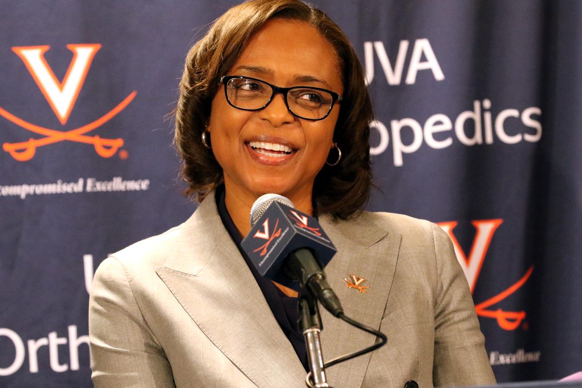 Virginia Director of Athletics Carla Williams hired Tina Thompson to coach women's basketball.