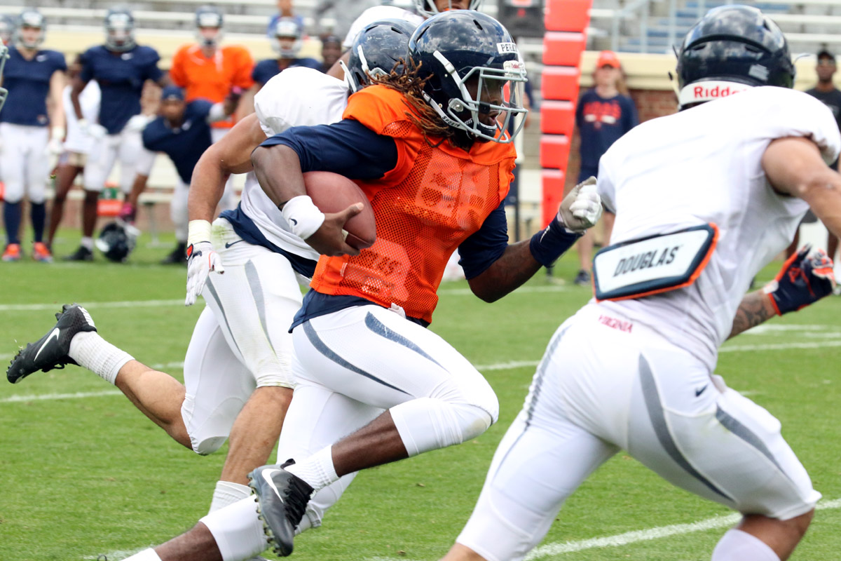 Virginia named Bryce Perkins its starting quarterback.