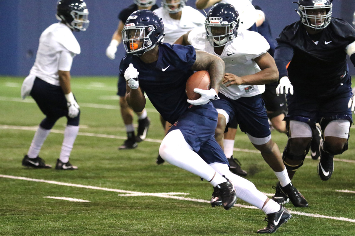 Virginia is working on the running game this spring.