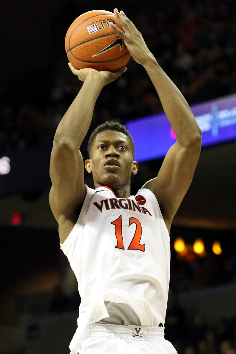 Virginia opened with a 73-42 win against Towson.