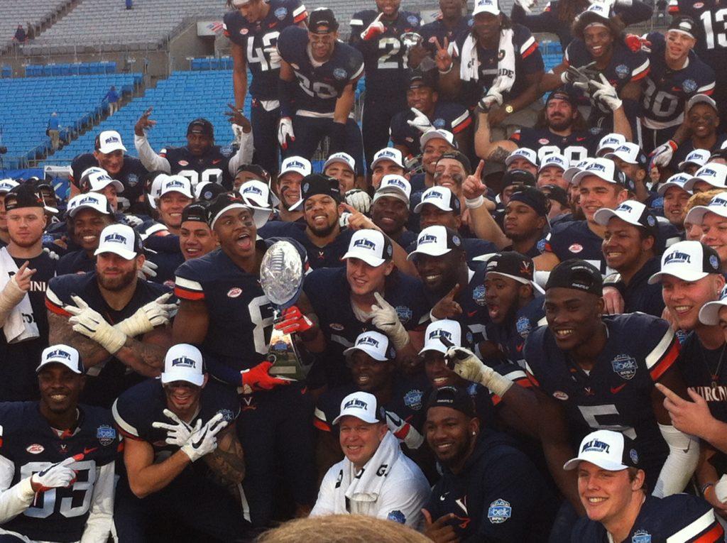 Virginia won the Belk Bowl